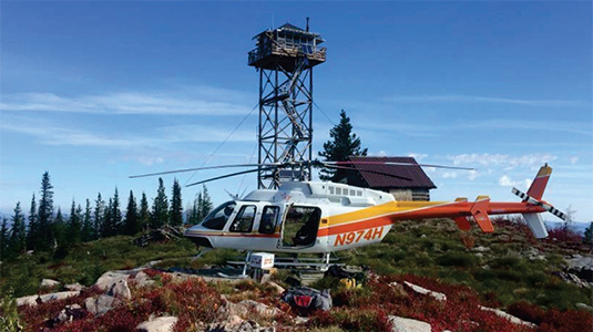 Hillcrest Aircraft Co. providing forest management services.